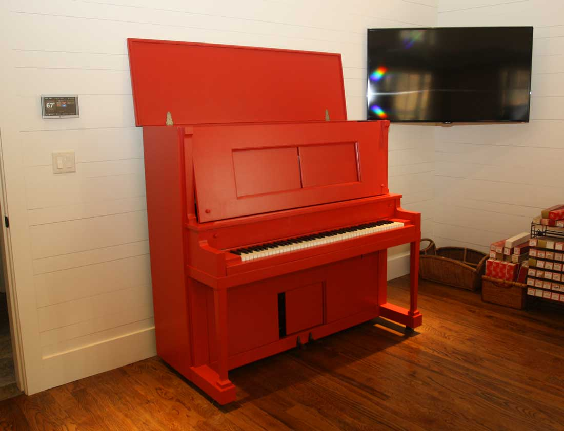 Miscellaneous Specialty Projects, red piano